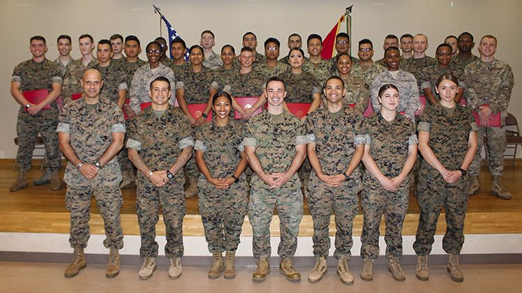 U.S. service members complete Lance Corporal Leadership and Ethics Seminar on Camp Fuji