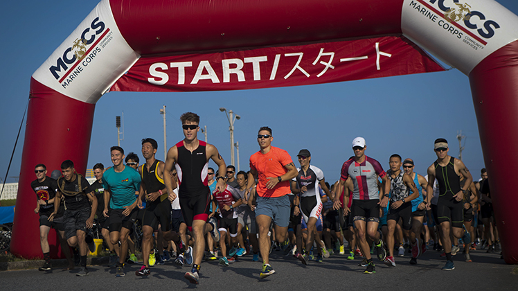 Marine Corps Air Station Futenma hosts the 2019 triathlon